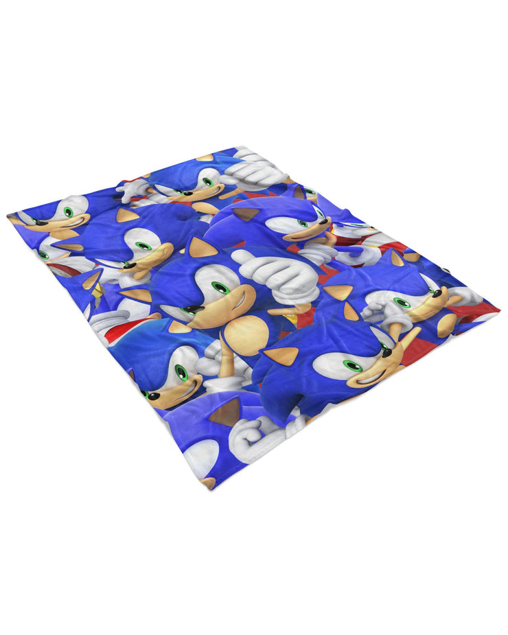 Sonic Super Smash Bros Fluffy Blanket