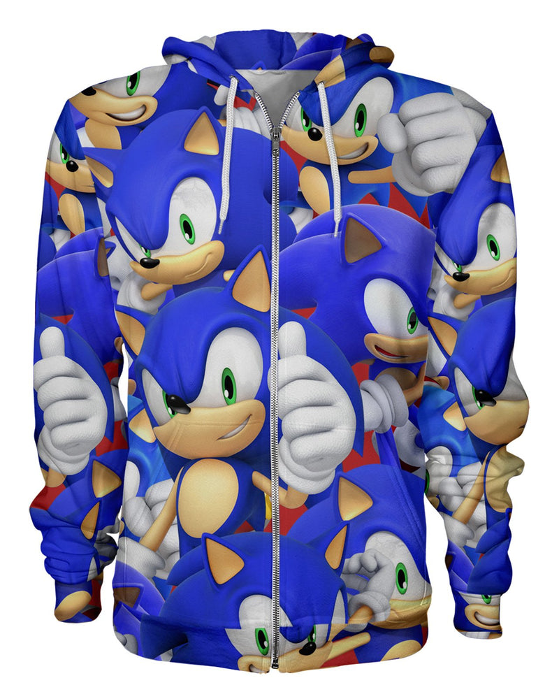 Sonic Super Smash Bros printed all over in HD on premium fabric. Handmade in California.