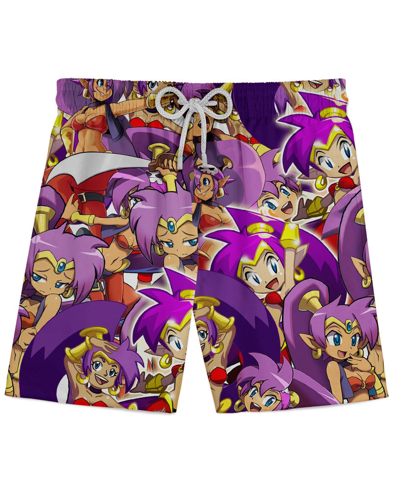 Shantae Super Smash Bros printed all over in HD on premium fabric. Handmade in California.