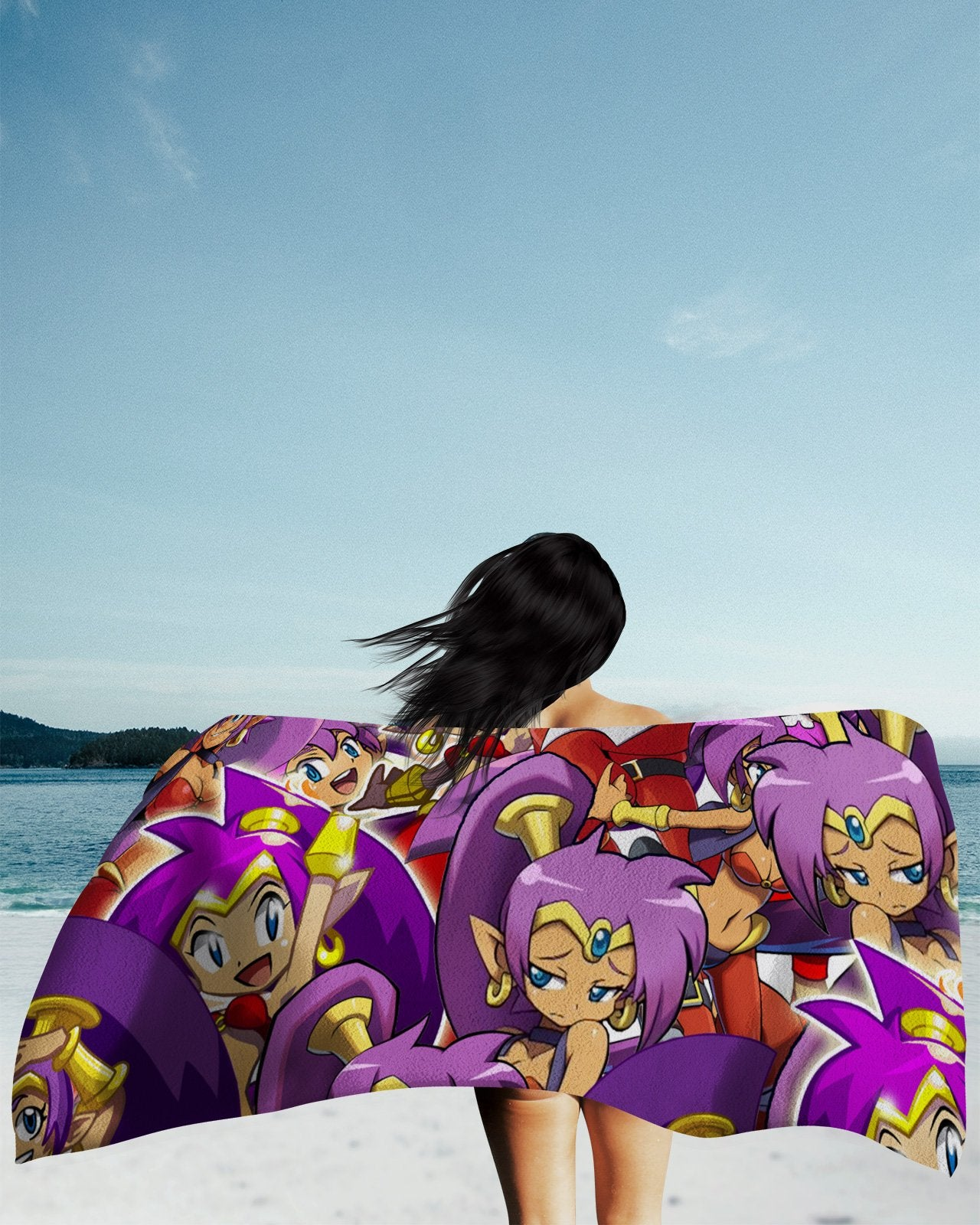 Shantae Super Smash Bros Beach Towel