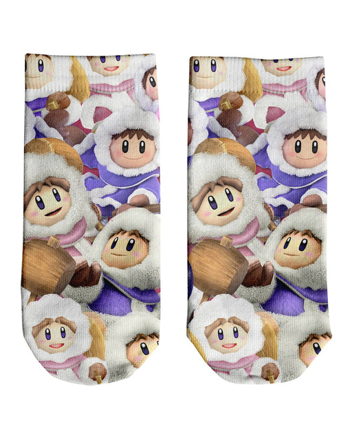 Ice Climbers Super Smash Bros Ankle Socks