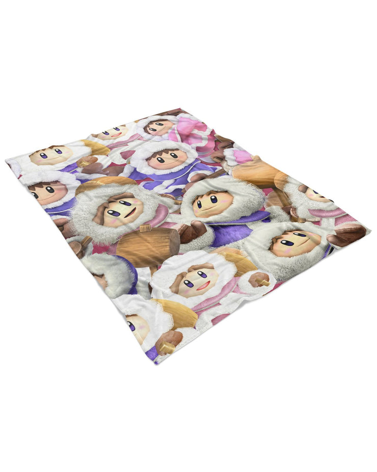 Ice Climbers Super Smash Bros Fluffy Micro Fleece Throw Blanket