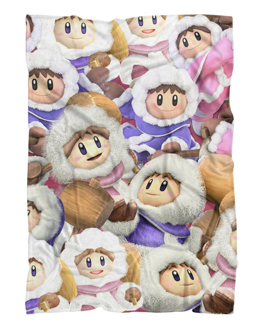 Ice Climbers Super Smash Bros Fluffy Blanket