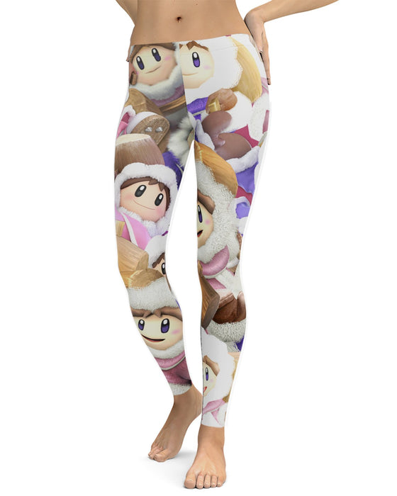 Ice Climbers Super Smash Bros printed all over in HD on premium fabric. Handmade in California.