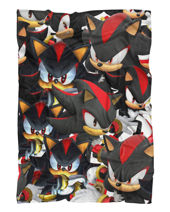 Shadow Super Smash Bros printed all over in HD on premium fabric. Handmade in California.