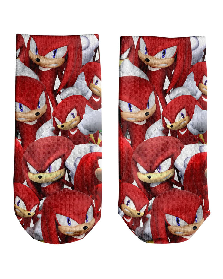 Knuckles Super Smash Bros Ankle Socks