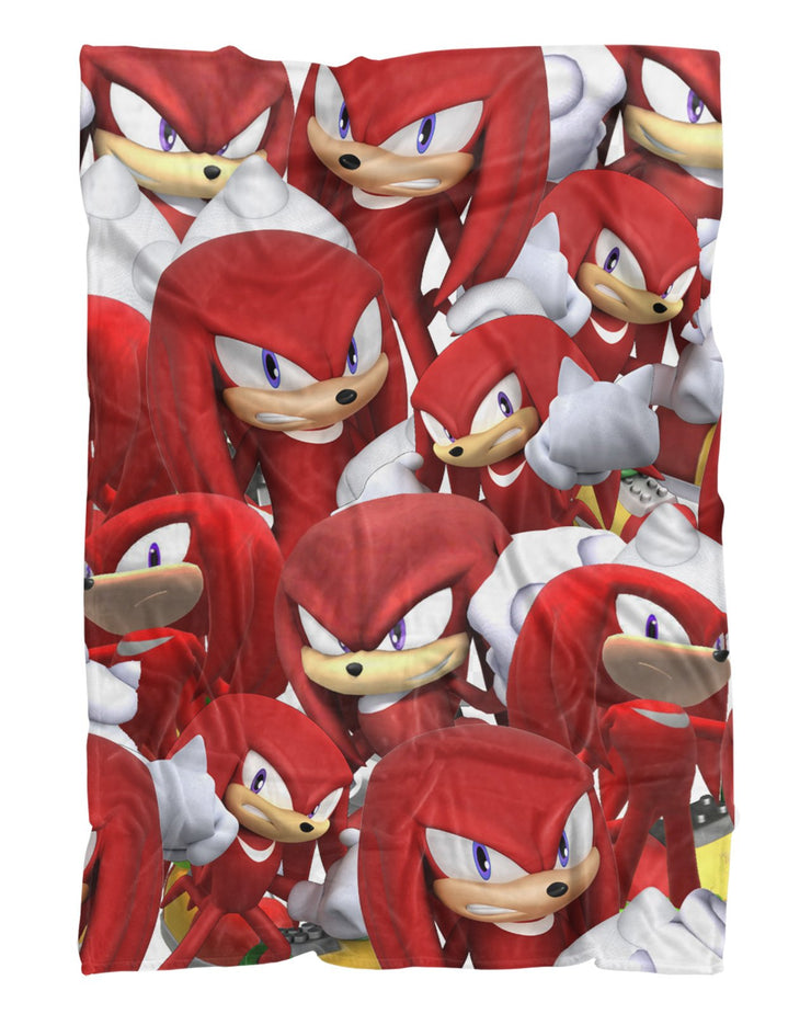 Knuckles Super Smash Bros Fluffy Micro Fleece Throw Blanket