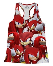 Knuckles Super Smash Bros Racerback-Tank