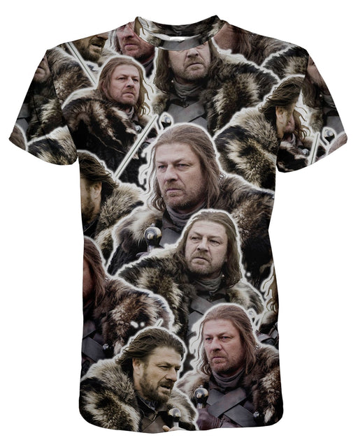 Eddard Ned Stark printed all over in HD on premium fabric. Handmade in California.