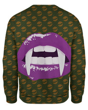 Purple Vampire Lips Sweatshirt