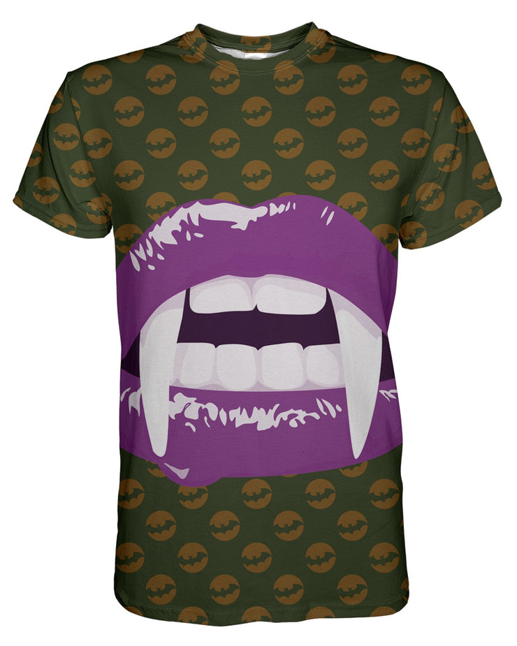 Purple Vampire Lips T-shirt