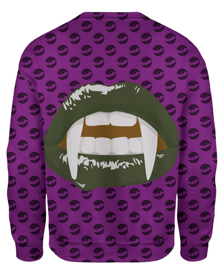 Green Vampire Lips Sweatshirt