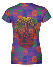 Bright Sugar Skull Women's T-shirt
