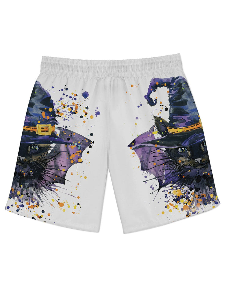 Halloween Cat Athletic Shorts