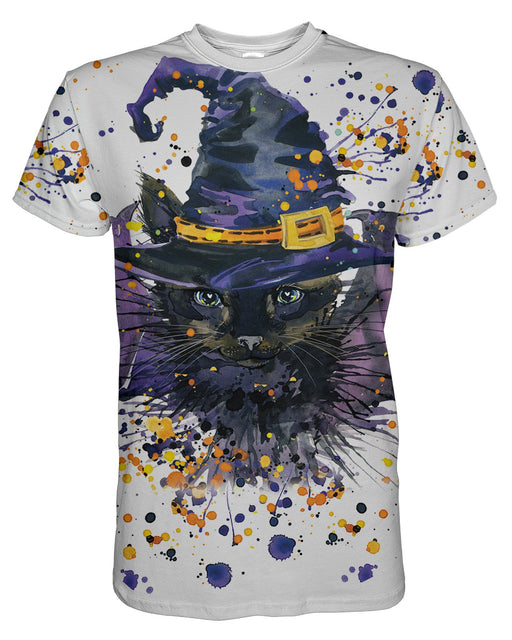 Halloween Cat printed all over in HD on premium fabric. Handmade in California.