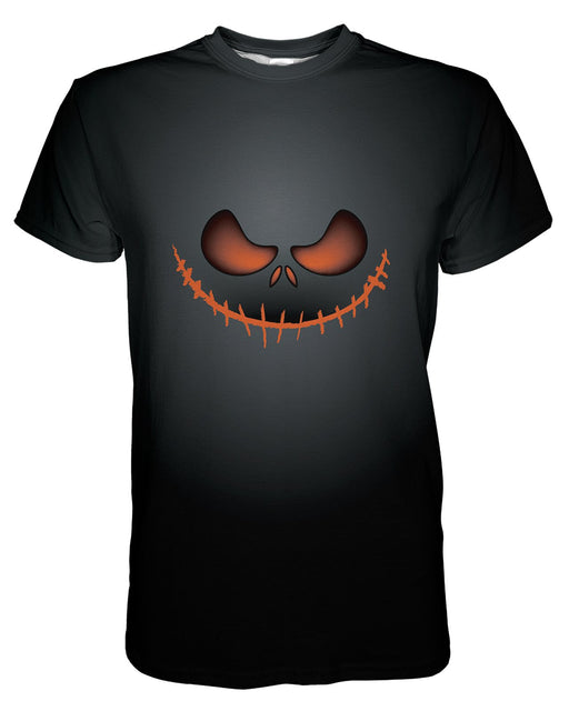 Jack O Smile printed all over in HD on premium fabric. Handmade in California.