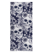 Blue Skull Pattern Beach Towel