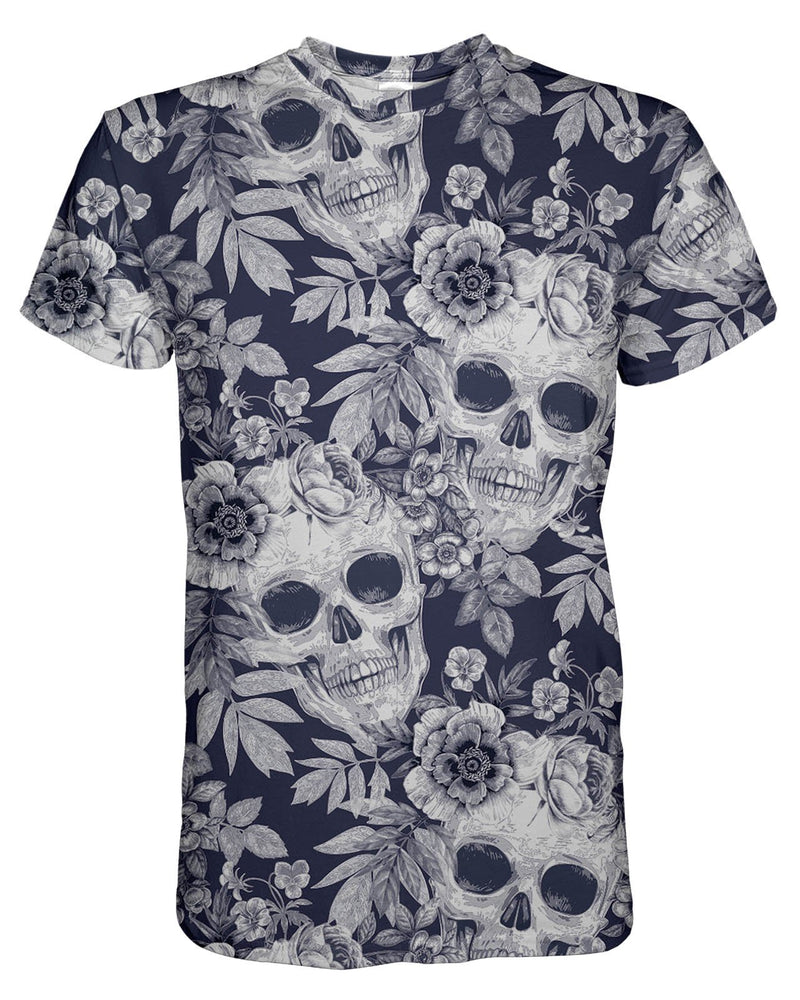 Blue Skull Pattern printed all over in HD on premium fabric. Handmade in California.