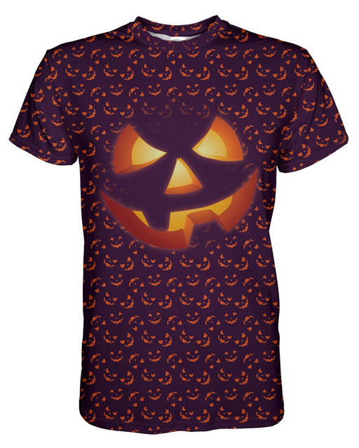 Jack O Lantern printed all over in HD on premium fabric. Handmade in California.
