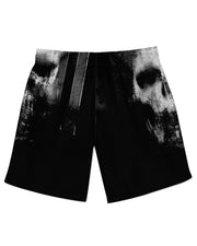 Smeared Skull Athletic Shorts