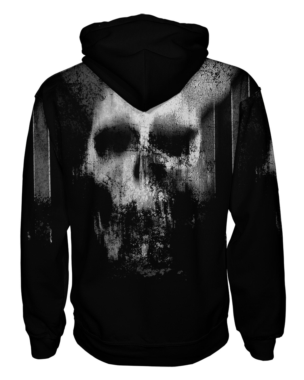 Smeared Skull Pullover Hoodie