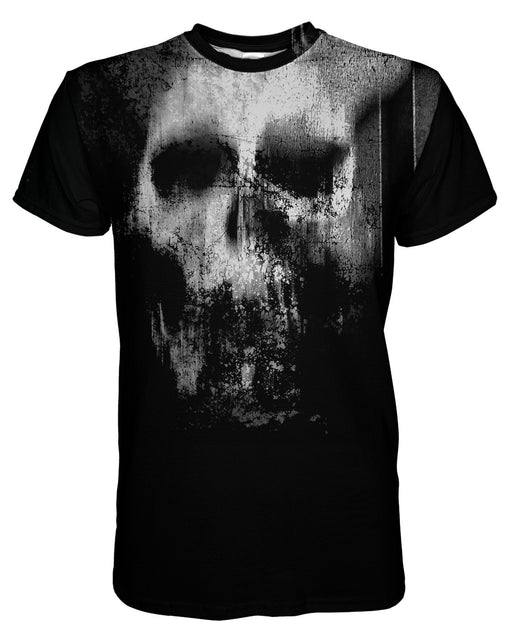 Smeared Skull printed all over in HD on premium fabric. Handmade in California.