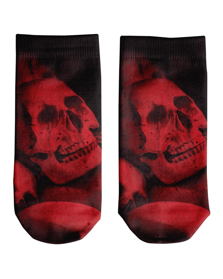 Red Skull Ankle Socks