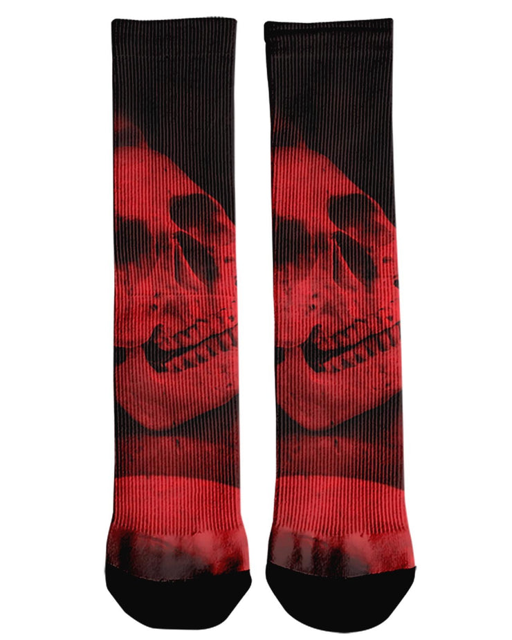 Red Skull Crew Socks