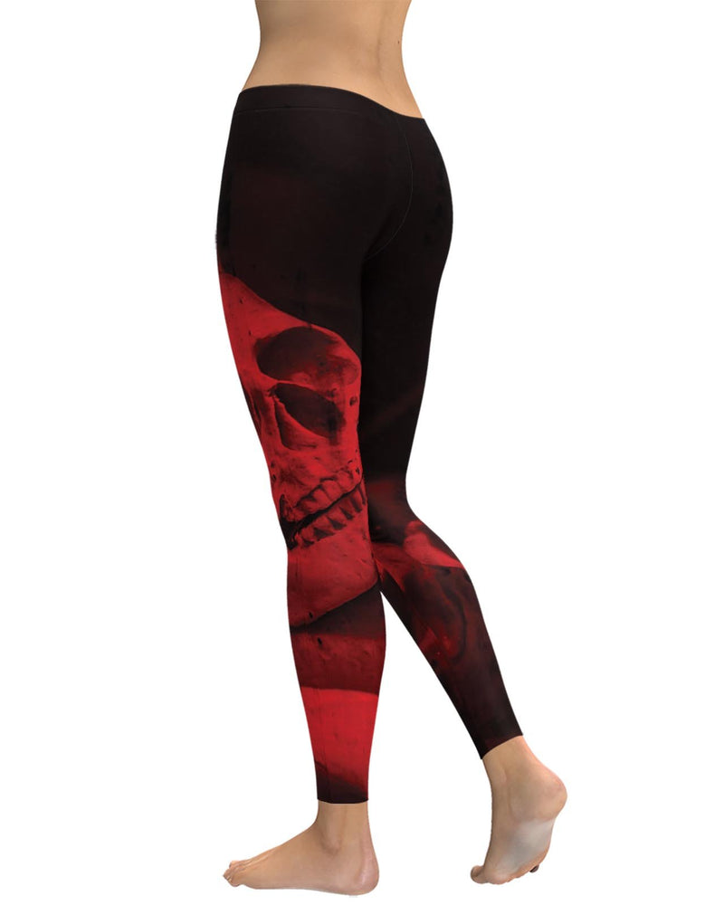 Red Skull Leggings