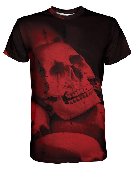 Red Skull printed all over in HD on premium fabric. Handmade in California.