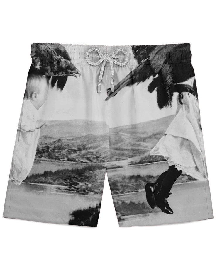 Raven Baby Athletic Shorts