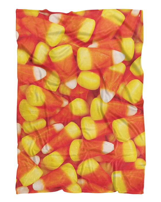 Candy Corn Fluffy Blanket