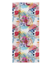 Floral Skulls Beach Towel