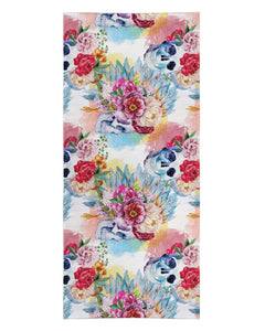 Floral Skulls printed all over in HD on premium fabric. Handmade in California.