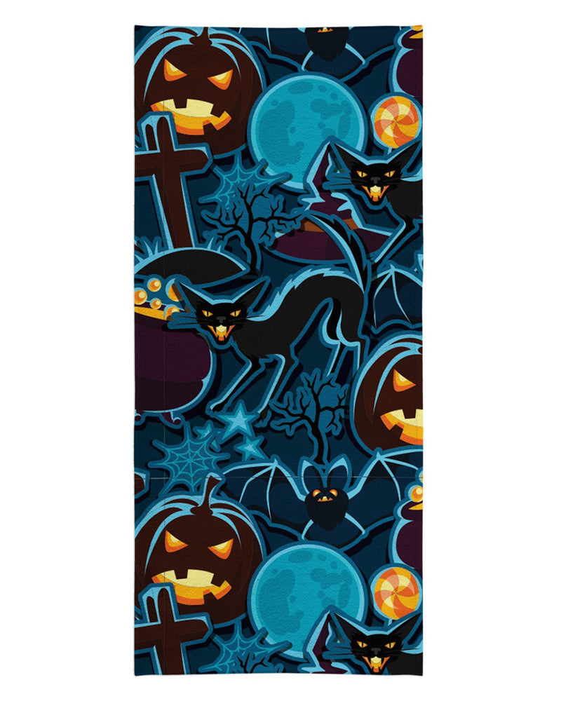 Halloween Pattern Beach Towel