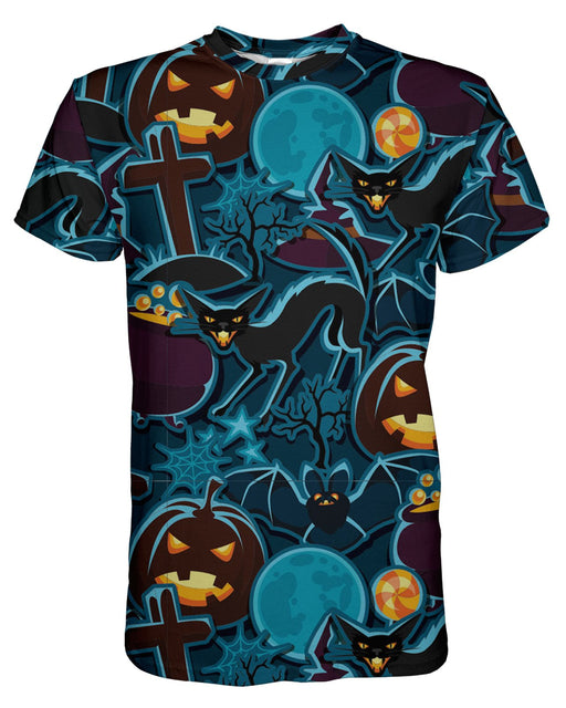 Halloween Pattern printed all over in HD on premium fabric. Handmade in California.