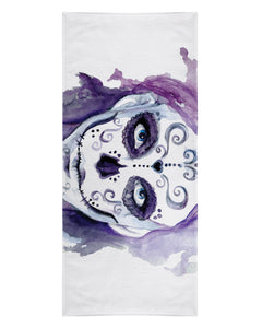 Watercolor Sugar Skull printed all over in HD on premium fabric. Handmade in California.