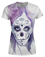 Watercolor Sugar Skull Women's T-shirt