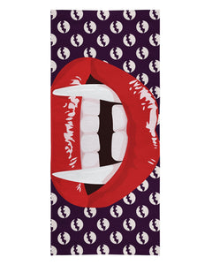 Red Vampire Lips printed all over in HD on premium fabric. Handmade in California.