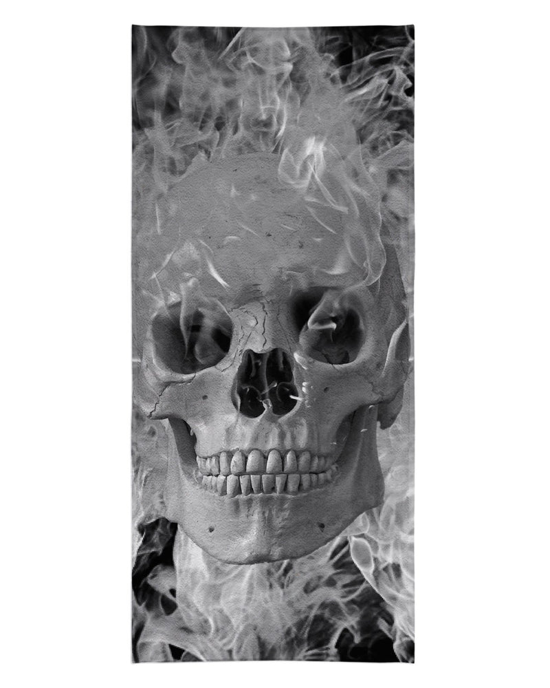 Smoking Skull printed all over in HD on premium fabric. Handmade in California.