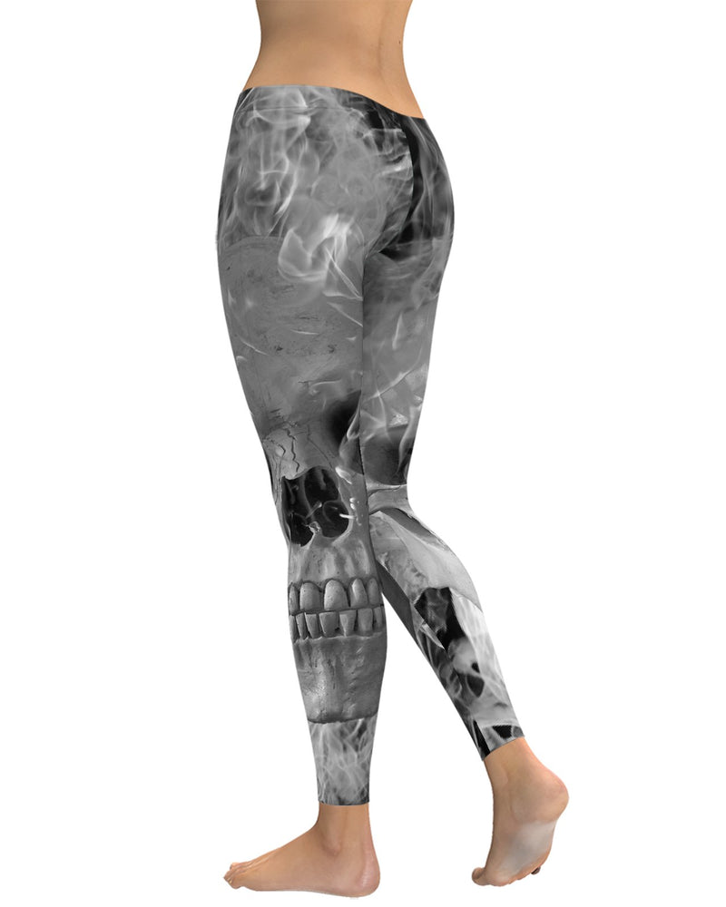 Smoking Skull Leggings