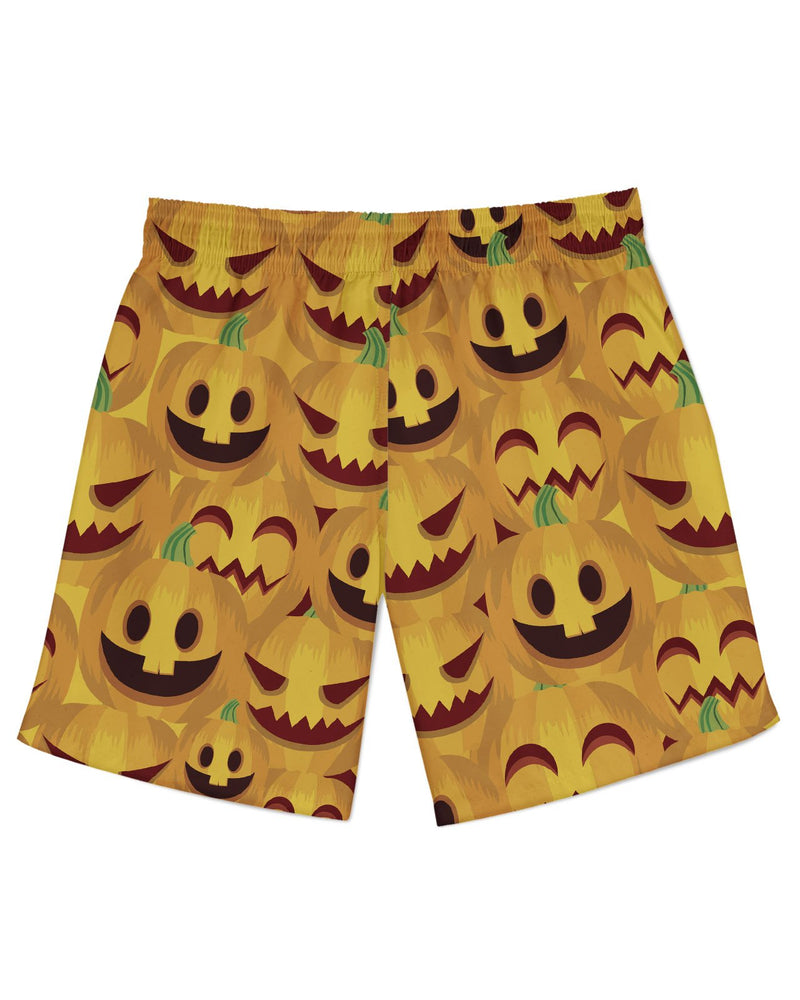 Happy Halloween Pumpkin Print Athletic Shorts