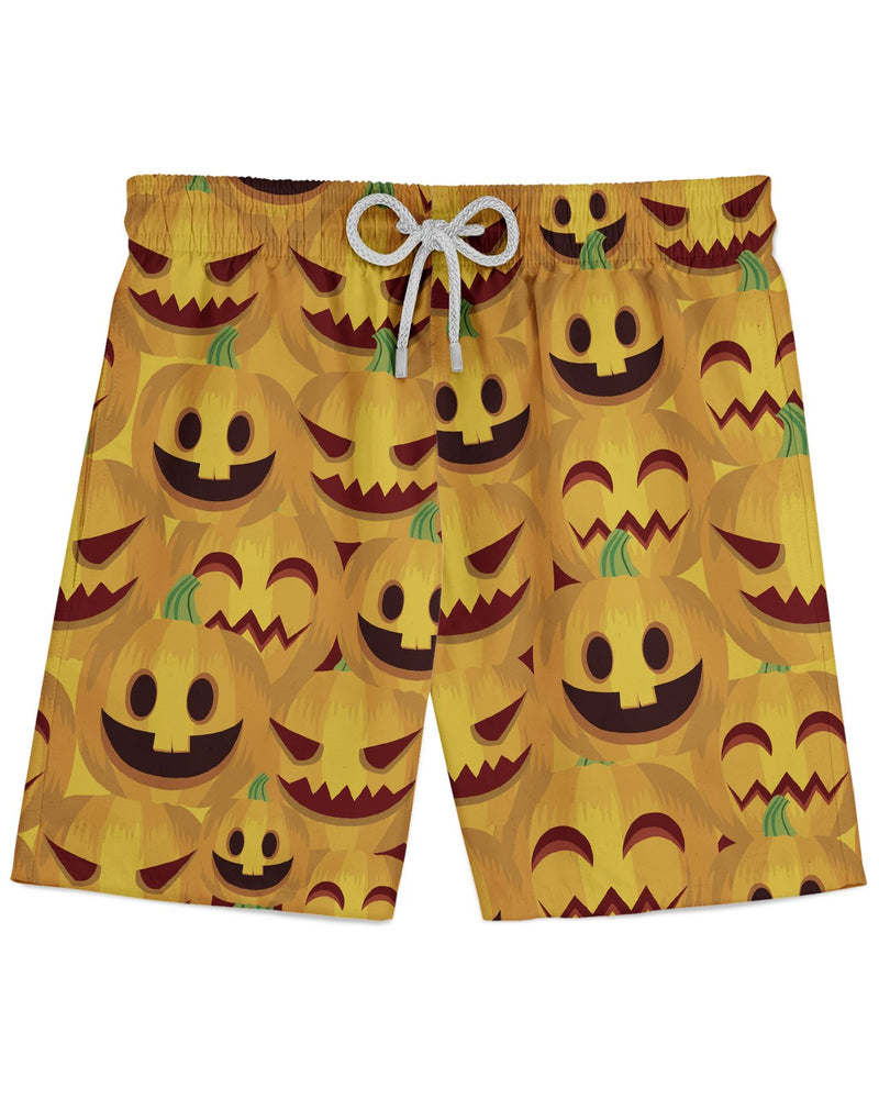 Happy Halloween Pumpkin Print printed all over in HD on premium fabric. Handmade in California.