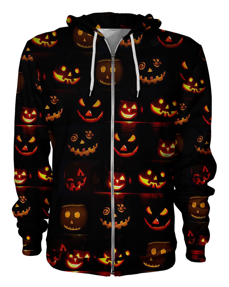 Jack O Lantern Print printed all over in HD on premium fabric. Handmade in California.