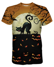 Cat O Lantern printed all over in HD on premium fabric. Handmade in California.
