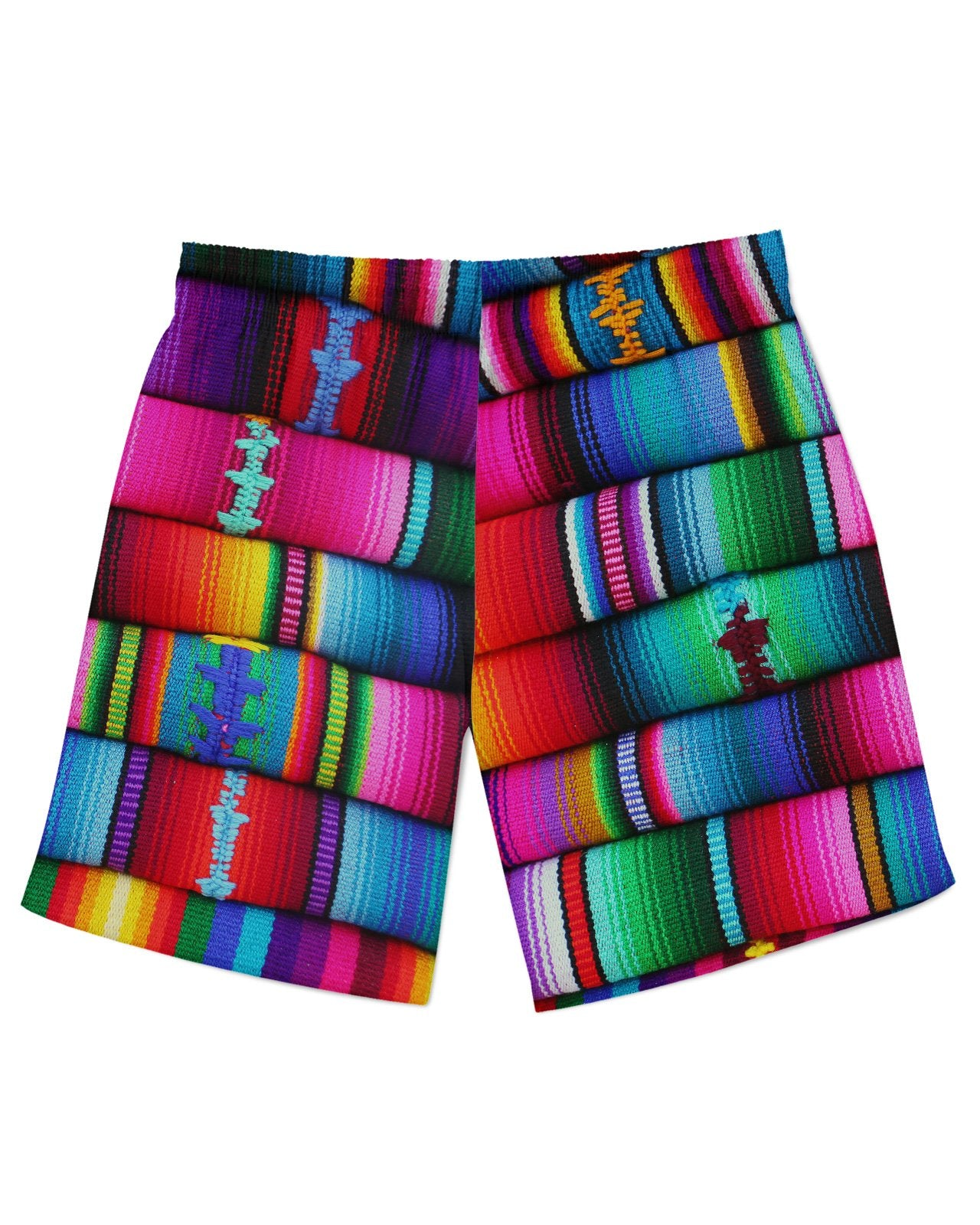 Mexican Blankets Athletic Shorts