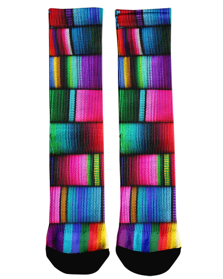 Mexican Blankets Crew Socks
