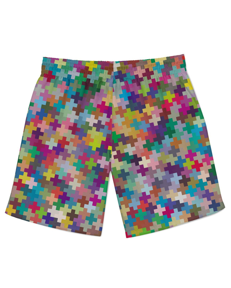 Multicolor Crosses Athletic Shorts