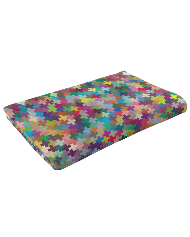 Multicolor Crosses Fluffy Micro Fleece Throw Blanket