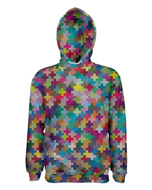 Multicolor Crosses printed all over in HD on premium fabric. Handmade in California.
